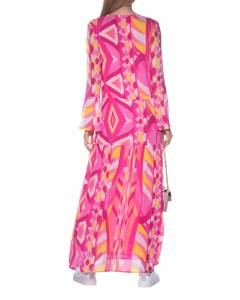 Pattern Sleeve Multicolor Pink