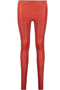 CHATOU Stretch Plonge Skinny Lederhose Red-36