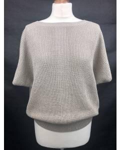 Pullover Silber-Beige