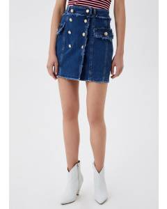 Jeans Minirock mit Knöpfen