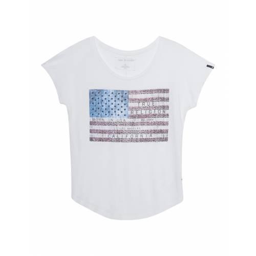 TRUE RELIGION T-Shirt American Flag White