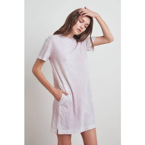 Amelya Shirt Dress Purple Tie Dye