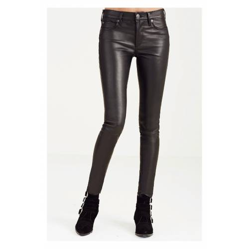 TRUE RELIGION Leather Pants Brown