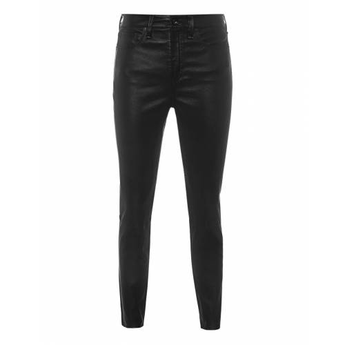 High Rise Black Leather Pants